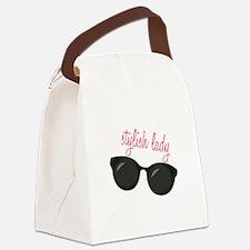 Stylish Lady Canvas Lunch Bag