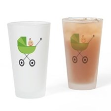 Baby Buggy Drinking Glass