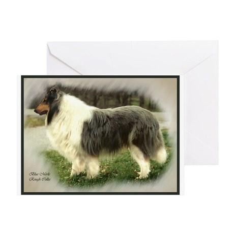 Blue Merle Collie Greeting Card