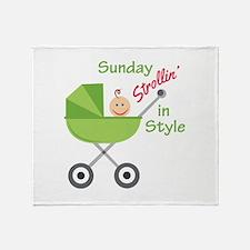 Strollin In Style Throw Blanket