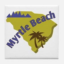 Myrtle Beach Tile Coaster