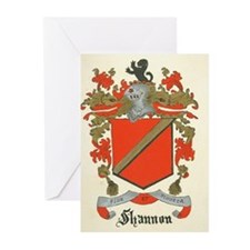 Shannon Family Coat of Arms Greeting Cards (Packag