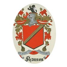 Shannon Family Coat of Arms Oval Ornament
