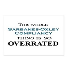 Sarbanes-Oxley Overrated Postcards (Package of 8)