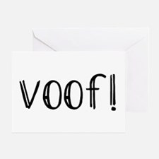 Voof Greeting Card
