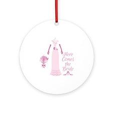Here Comes The Bride Ornament (Round)