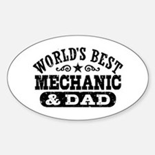 World's Best Mechanic and Dad Decal