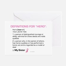"Definition Of ""Hero"" (My Sister) Greeting Card"