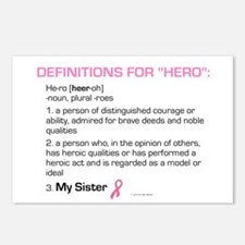 """Definition Of """"Hero"""" (My Sister) Postcards (Packag"""
