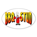 BBQ Stud Oval Sticker