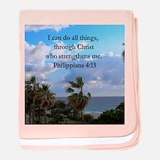 PHILIPPIANS 4:13 baby blanket