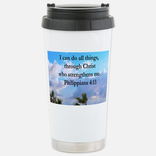 PHILIPPIANS 4:13 Stainless Steel Travel Mug