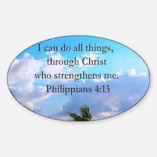 PHILIPPIANS 4:13 Sticker (Oval)