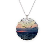 PHILIPPIANS 4:13 Necklace Circle Charm