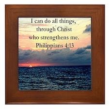 PHILIPPIANS 4:13 Framed Tile