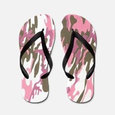 Pink Army Camouflage Flip Flops