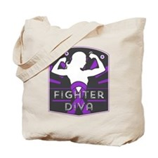 Pancreatic Cancer Fighter Diva Tote Bag