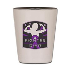 Pancreatic Cancer Fighter Diva Shot Glass