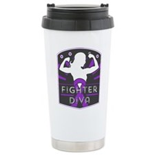 Pancreatic Cancer Fighter Diva Travel Mug