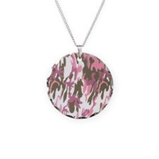 Pink Army Camouflage Necklace