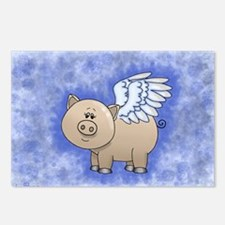 Cute Pigs with wings Postcards (Package of 8)