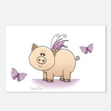 Unique Pigs with wings Postcards (Package of 8)