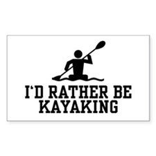 I'd Rather Be Kayaking Rectangle Decal