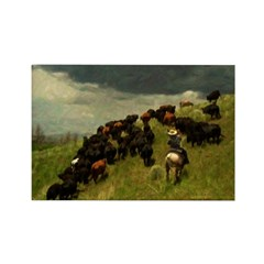 AFTM Cattle Drive Rectangle Magnet