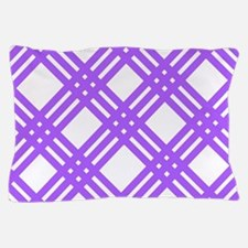 Lavender Gingham Plaid Pillow Case