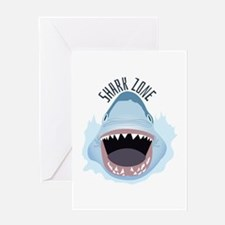 Shark Zone Greeting Cards