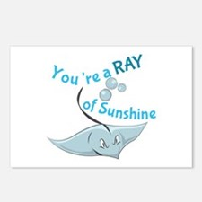 You're A Ray Of Sunshine Postcards (Package of 8)