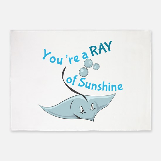 You're A Ray Of Sunshine 5'x7'Area Rug