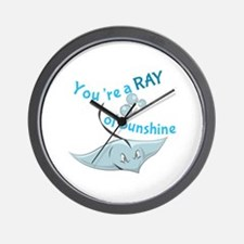 You're A Ray Of Sunshine Wall Clock