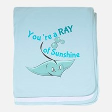 You're A Ray Of Sunshine baby blanket