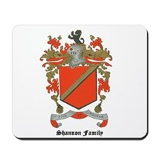 Shannon Family Coat of Arms Mousepad