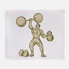 Strongman Lifting Barbell Kettlebell Etching Throw