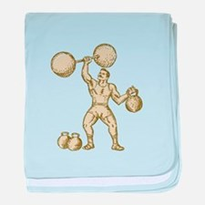 Strongman Lifting Barbell Kettlebell Etching baby
