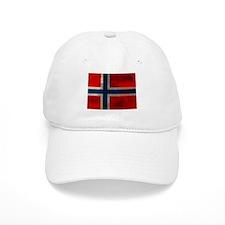 Grunge Norwegian Flag Baseball Baseball Cap