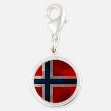 Grunge Norwegian Flag Charms
