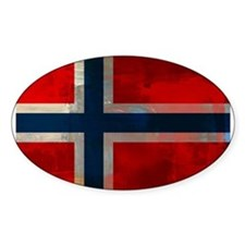 Grunge Norwegian Flag Decal