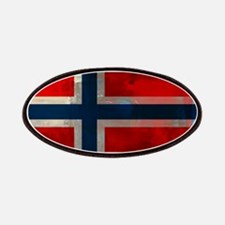 Grunge Norwegian Flag Patch