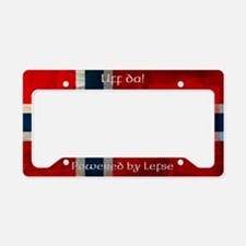 Grunge Norwegian Flag License Plate Holder