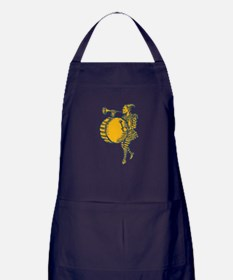 Clown With Trumpet and Drum Marching Etching Apron