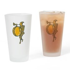 Clown With Trumpet and Drum Marching Etching Drink