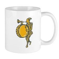Clown With Trumpet and Drum Marching Etching Mugs