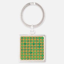 Bits pattern Square Keychain