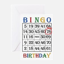 78th birthday Bingo card Greeting Cards