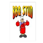 BBQ Stud Postcards (Package of 8)