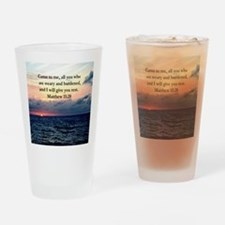 MATTHEW 11:28 Drinking Glass