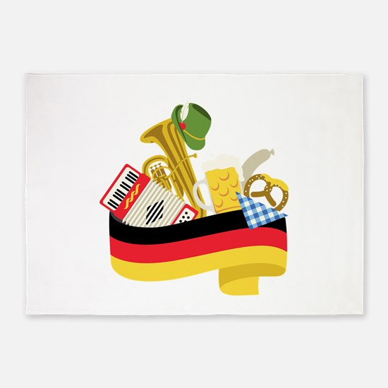 Germany country 5'x7'Area Rug